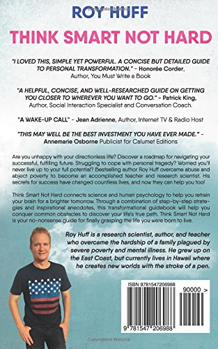Think Smart Not Hard backcover independent author Roy Huff