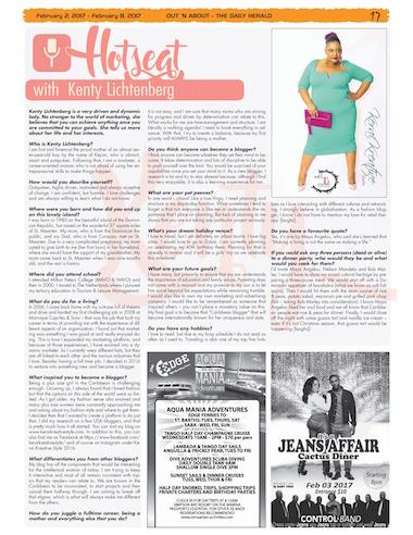 Kenty Lichtenberg blogger on caribbeanemagazine