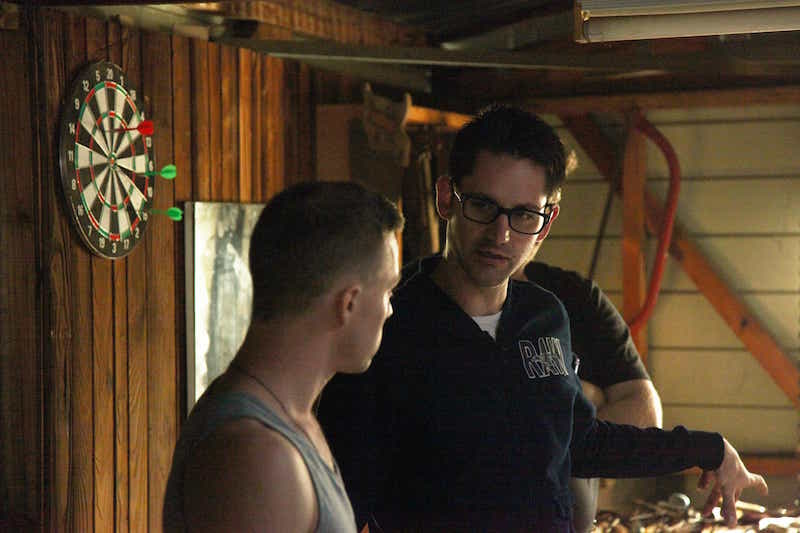 James working with the actors in production 12.12.12.jpg
