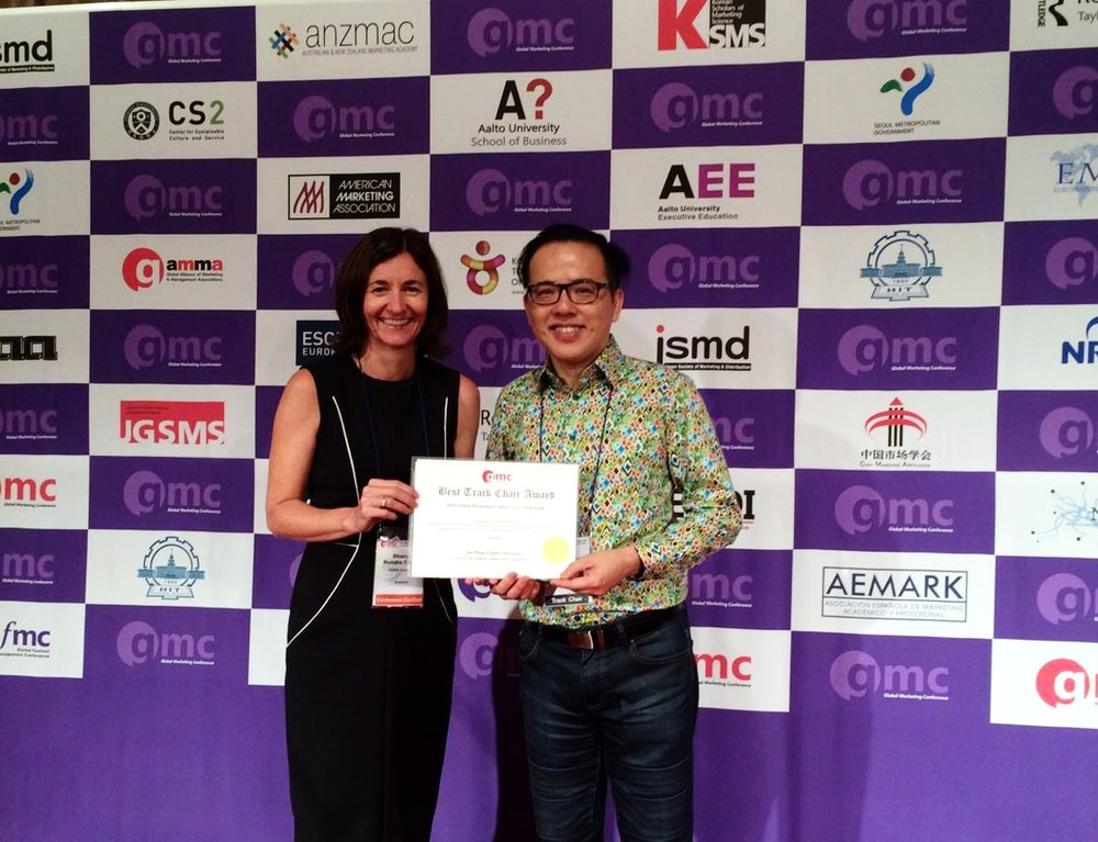 Prof. Ian Phau wins 'Best Track Chair' Award in Hong Kong