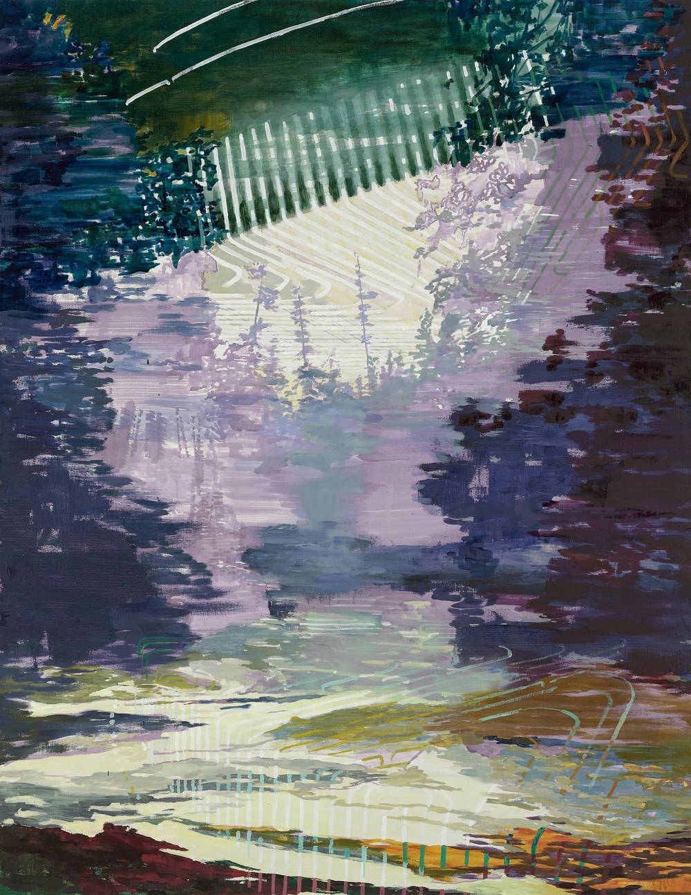 Neon Night Sky, 2009, 180 x 140 cm, oil on canvas