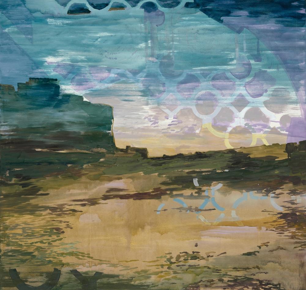 Gitter, 2009, 125 x 120 cm, oil on canvas