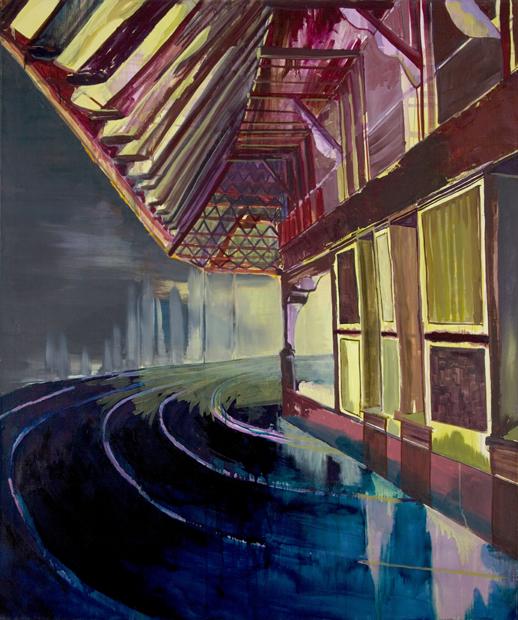 Racetrack III (Nighthouse), 2006, 155 x 130 cm, oil on canvas