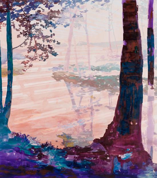 Reverb, 2011, 225 x 200 cm, oil on canvas
