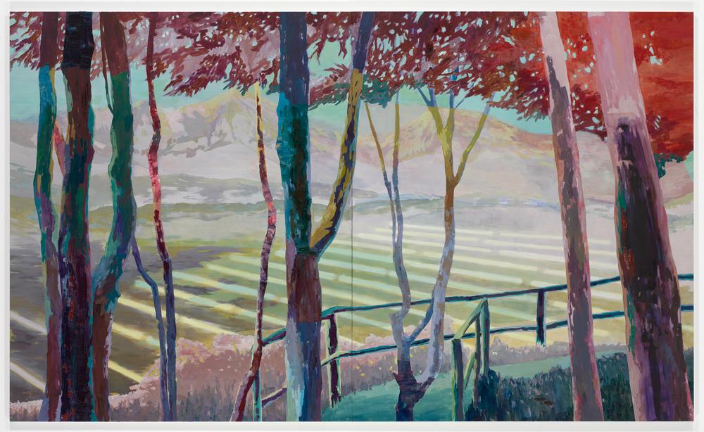 Outlook, 2010, diptych, 240 x 400 cm, oil on canvas