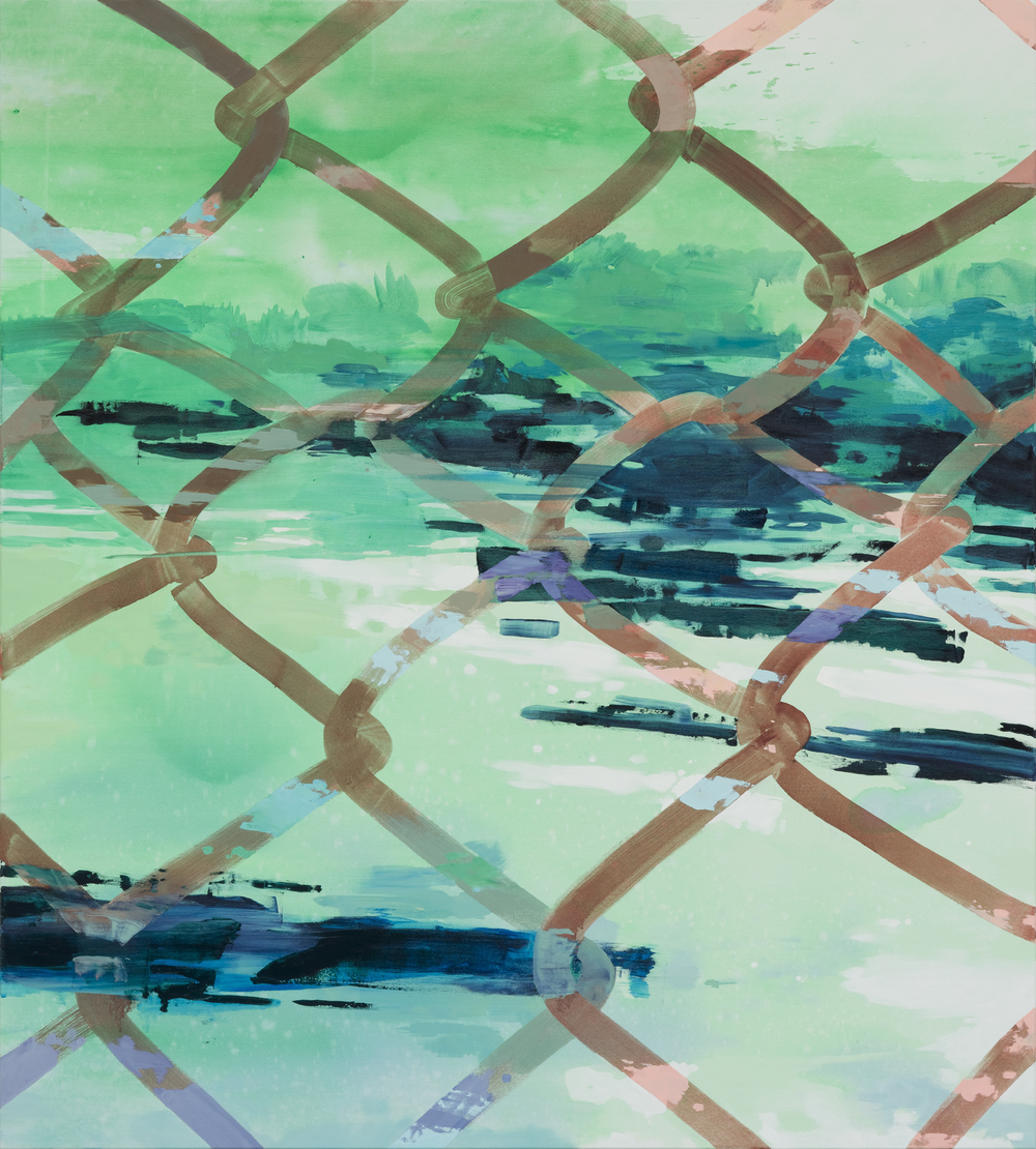 Perforated View, 2016, 200 x 180 cm, oil on canvas