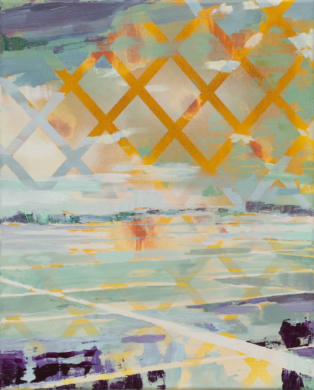 Fields in Flight, 2016, 50 x 40 cm, oil on canvas