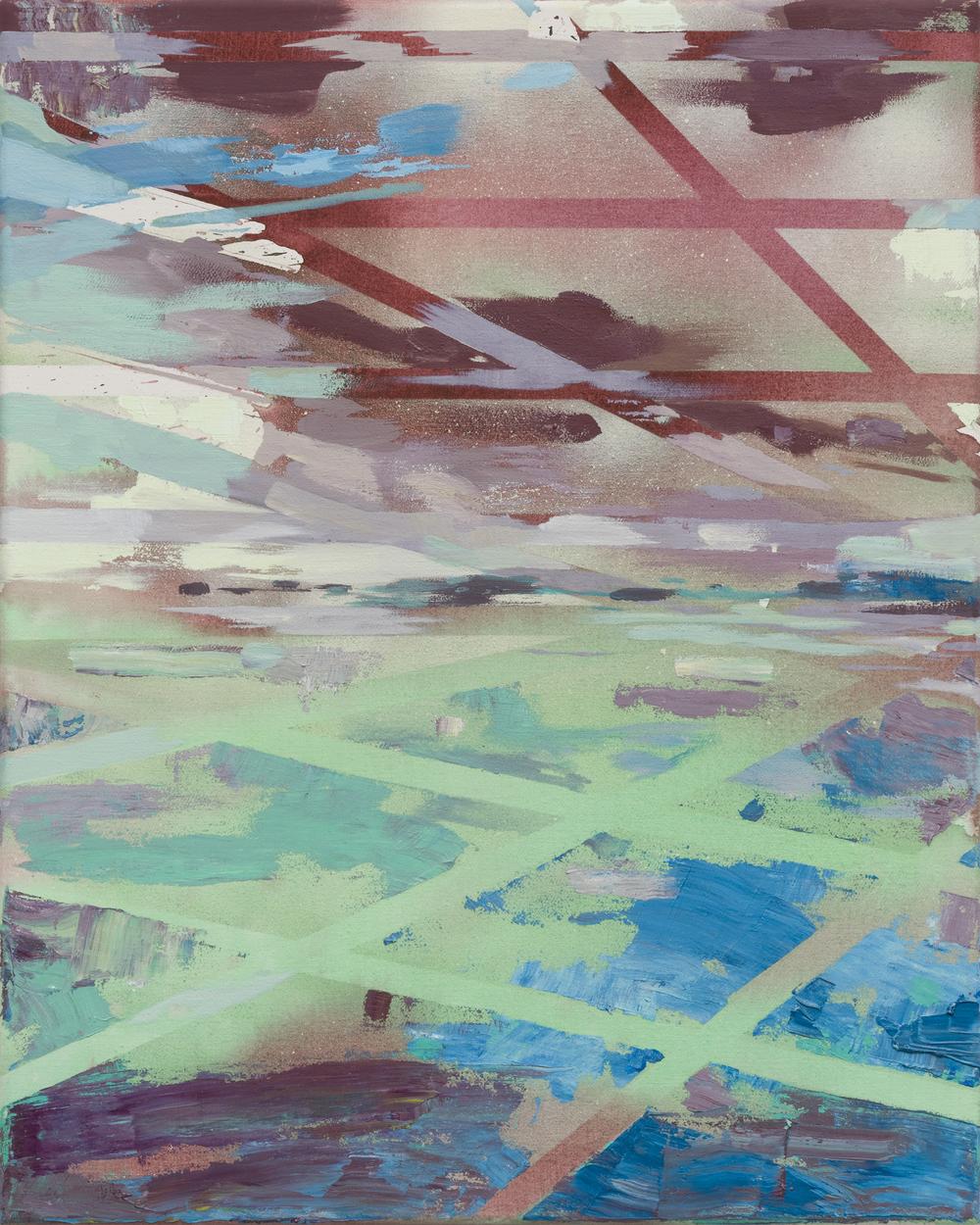 Vector, 2016, 50 x 40 cm, mixed media on canvas