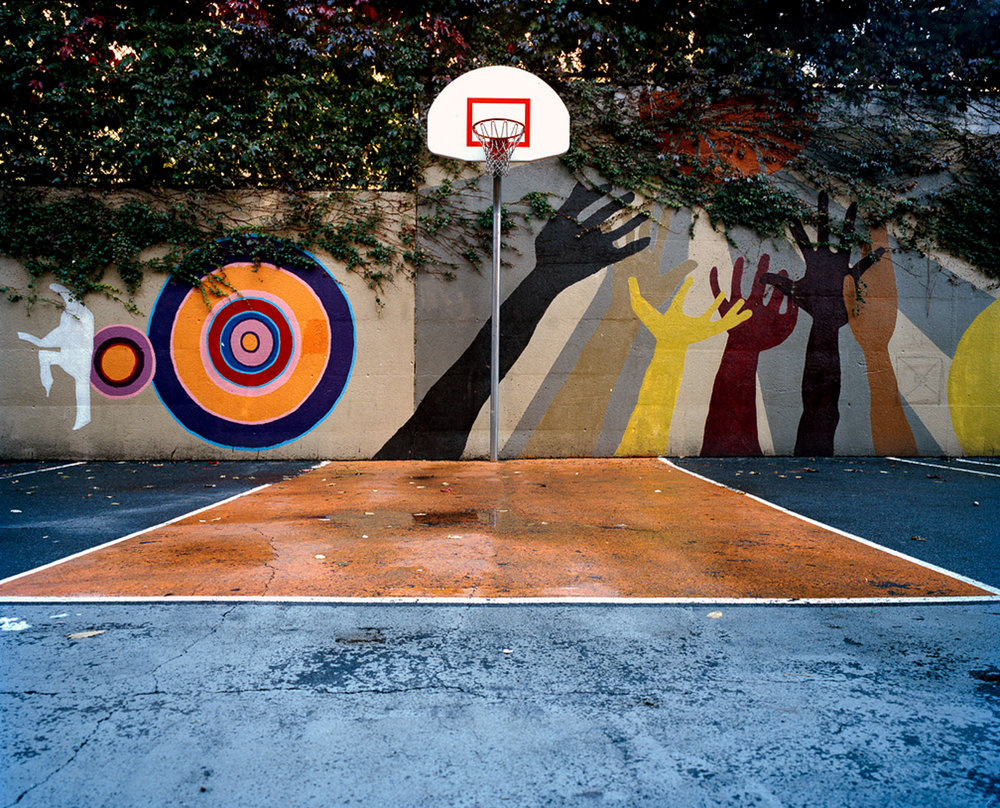 Charter school playground, Harlem, New York, 2007.
