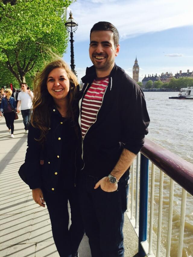With my best friend from home who came to visit me in London.