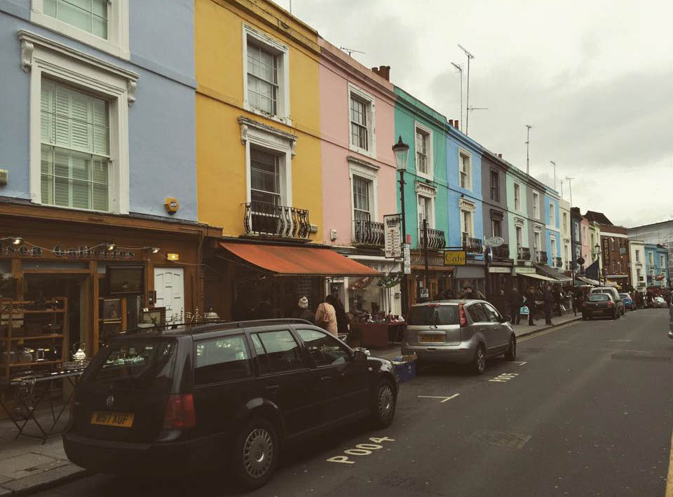 Notting Hill is one of the more expensive neighborhoods in London.