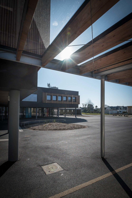 Collège Pen ar C'hoat, Moëlan s/ Mer. Les ateliers Quéré Architecture.