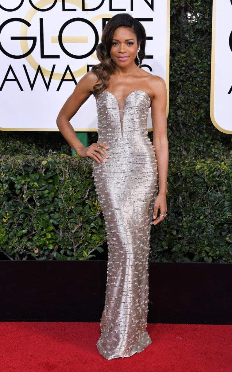 Naomi Harris in Armani Privè