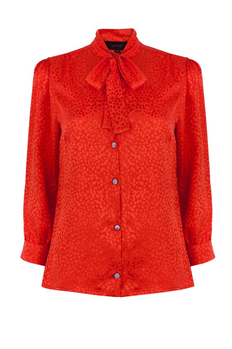Maddie Silk Jacquard Blouse £290