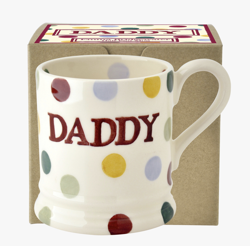Daddy Polka Dot Mug NOW £9.95