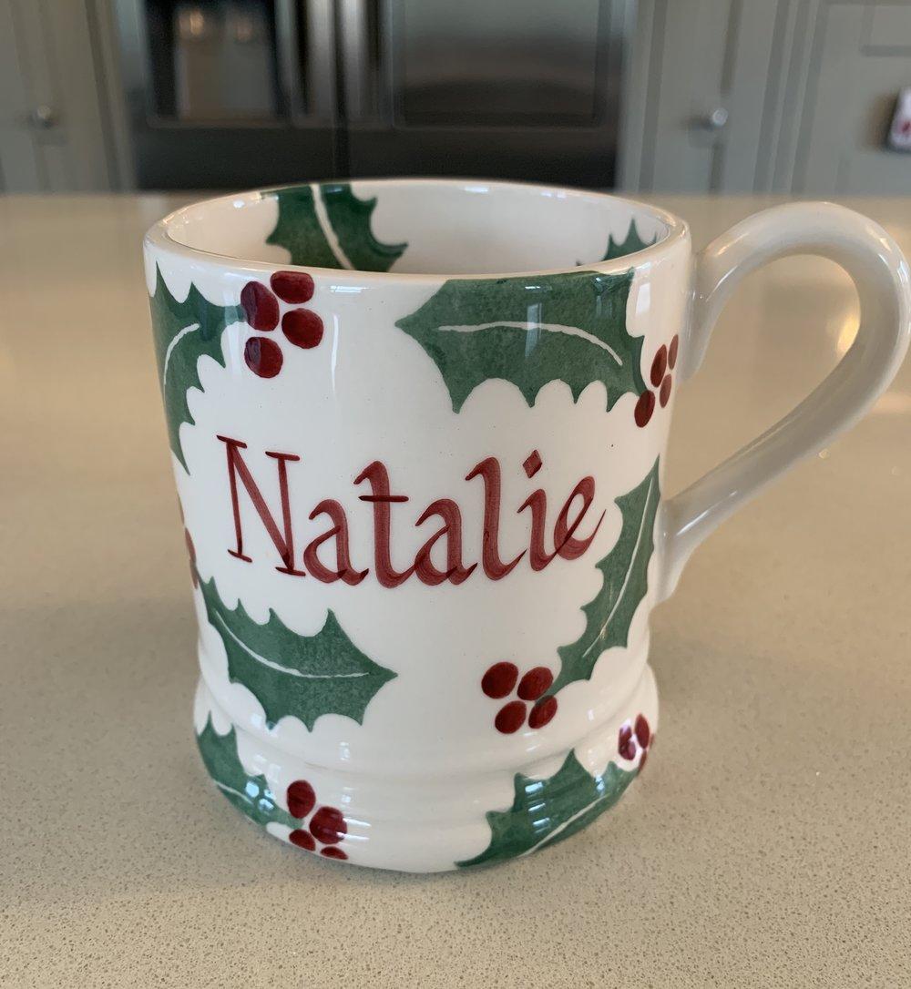 "My Personalised Festive 'Natalie"" Mug"