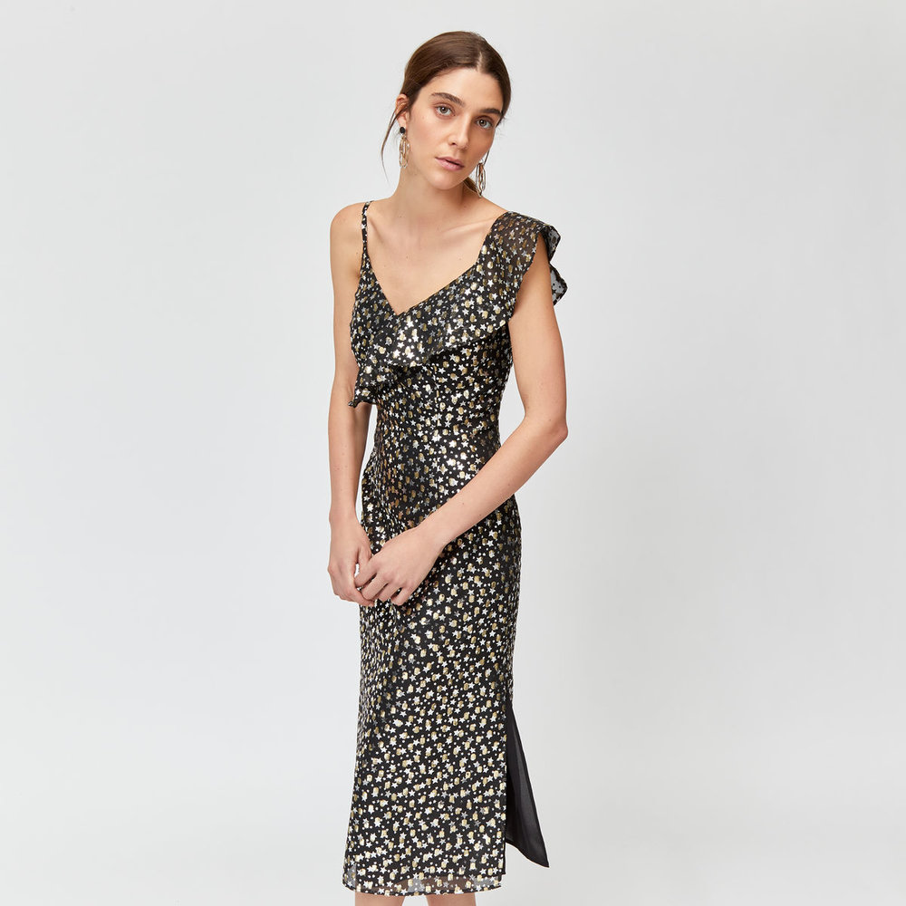 Foil Star Wrap Dress
