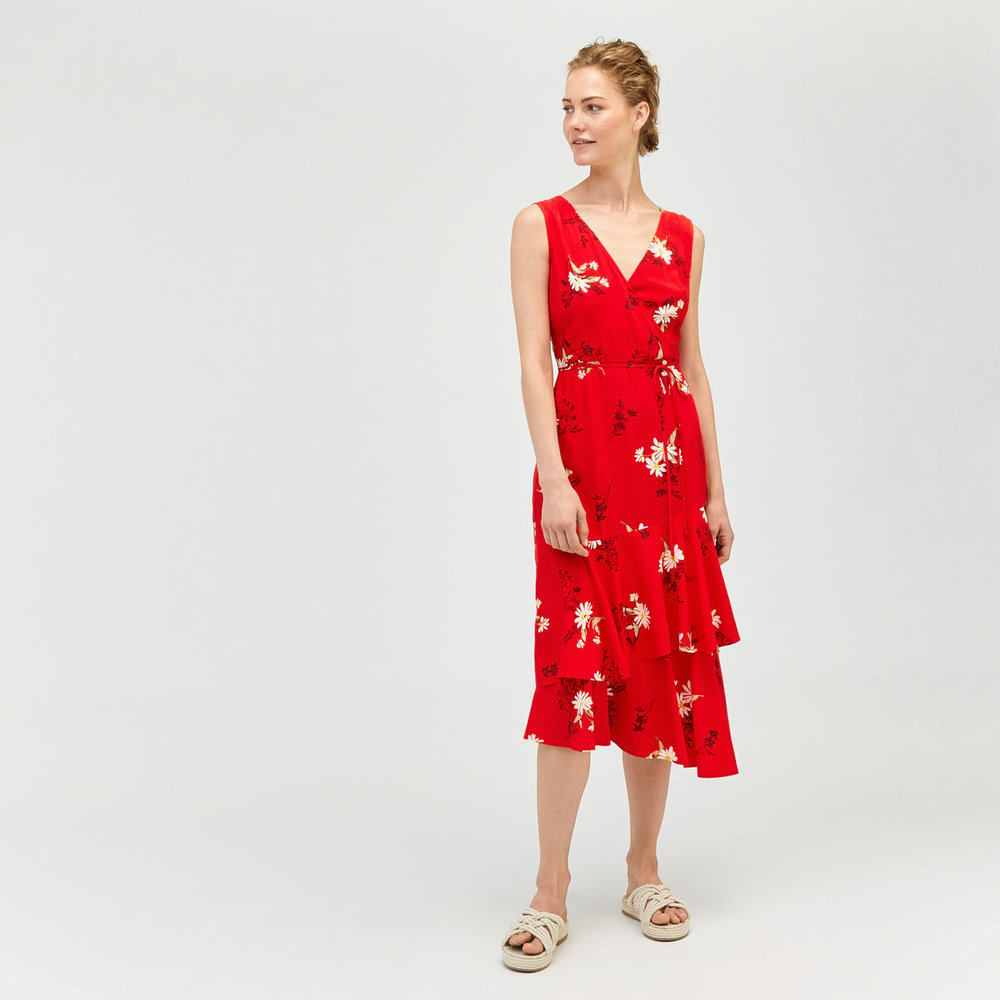 Daisy Wrap Midi Dress