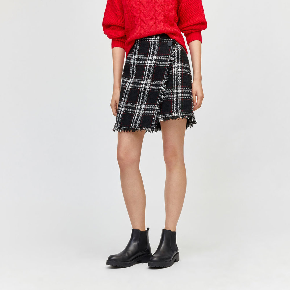 Ruby Check Pelmet Skirt