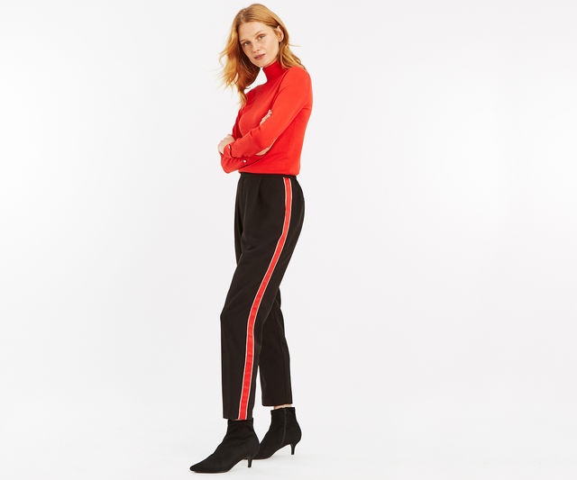 Side Stripe Peg Trouser £12