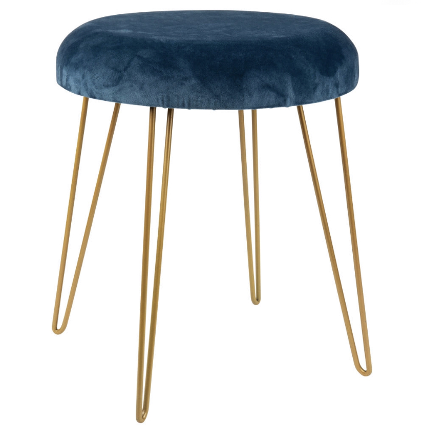Navy & Gold Stool £51.59