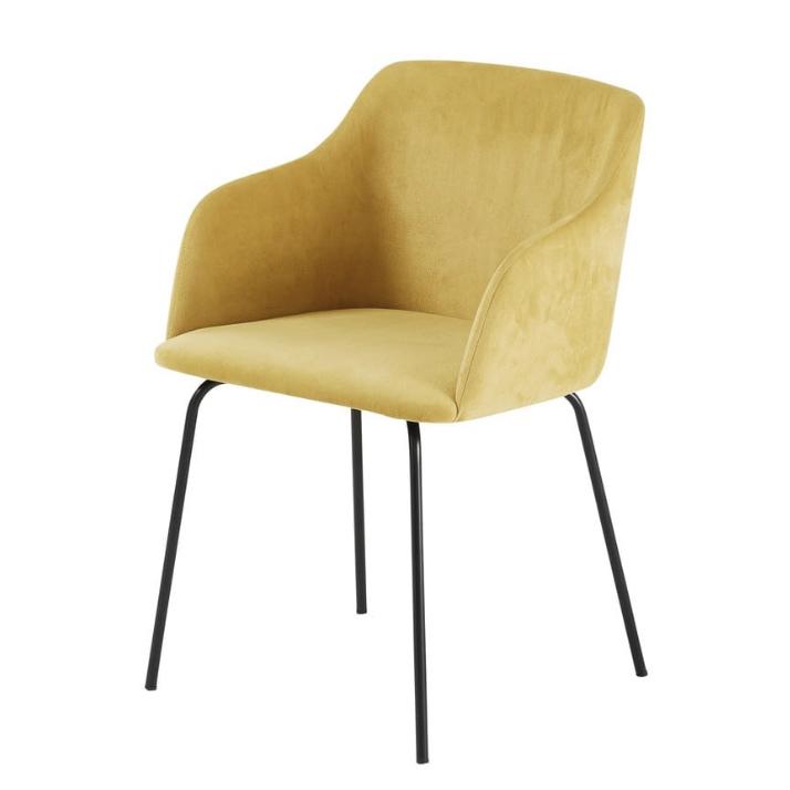 Mustard Velvet Armchair £156