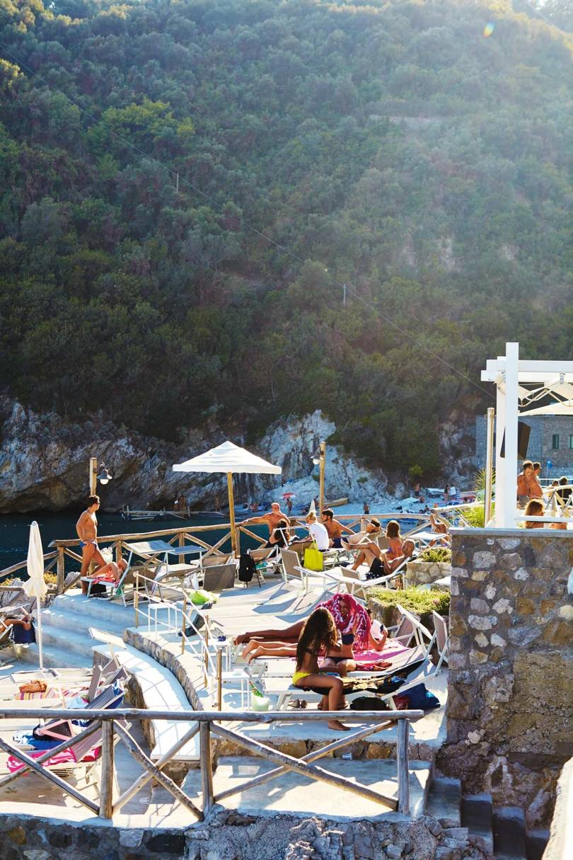 The terrace at Captain Cook in Massa Lubrense, on the Sorrentine Peninsula    Credit: DAVID LOFTUS