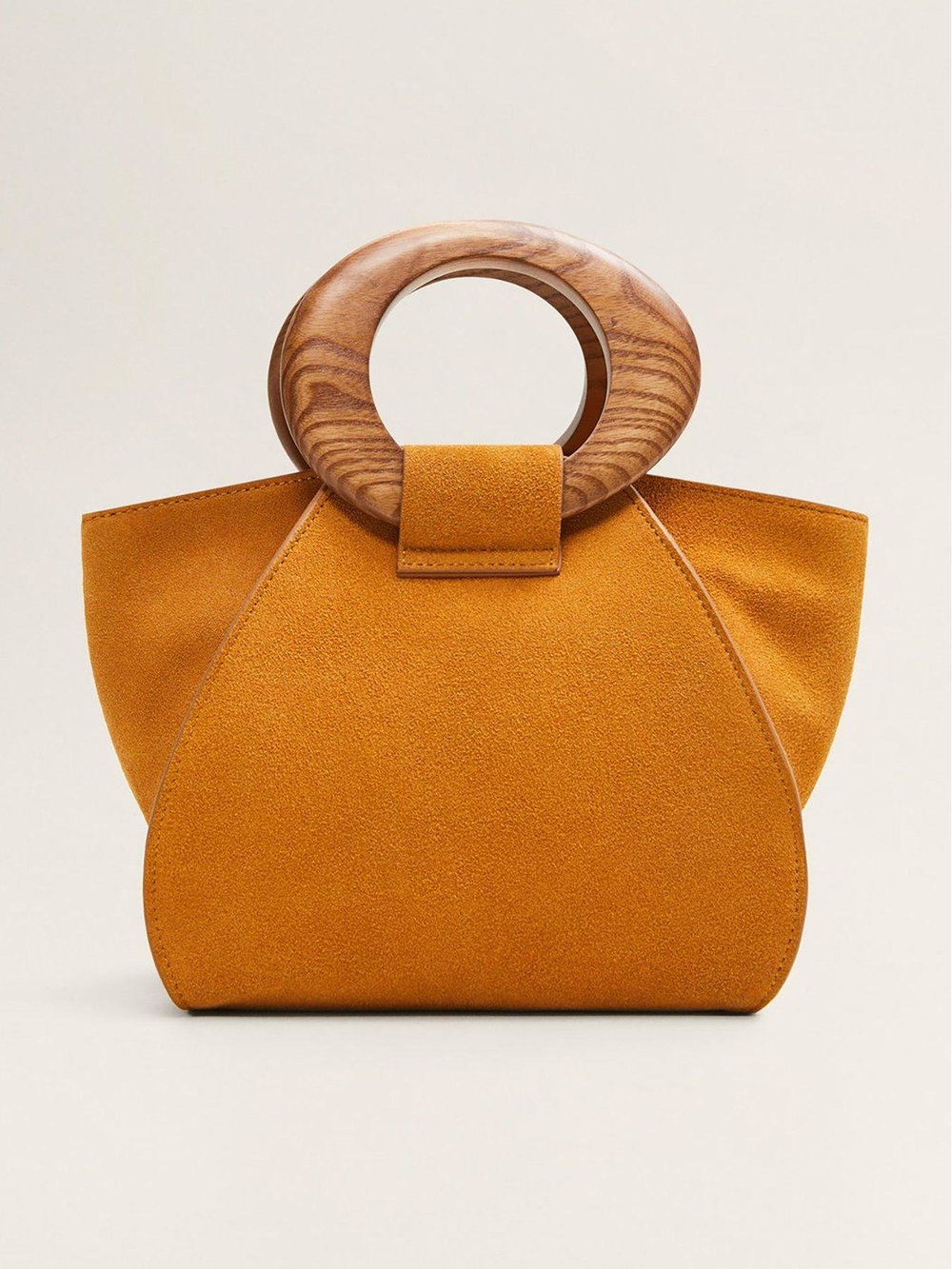 Mango Suede Round Handle £74
