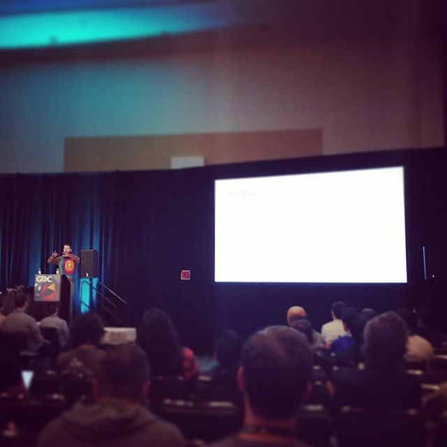 @anton.woldhek nailing down the philosophical side of #gameaudio  #gameaudiogdc #gdc2018
