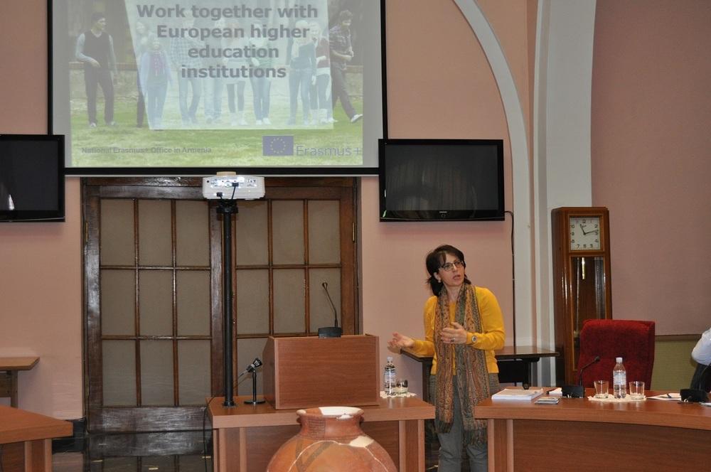 2. Lana Karlova presenting Erasmus Plus Program.JPG