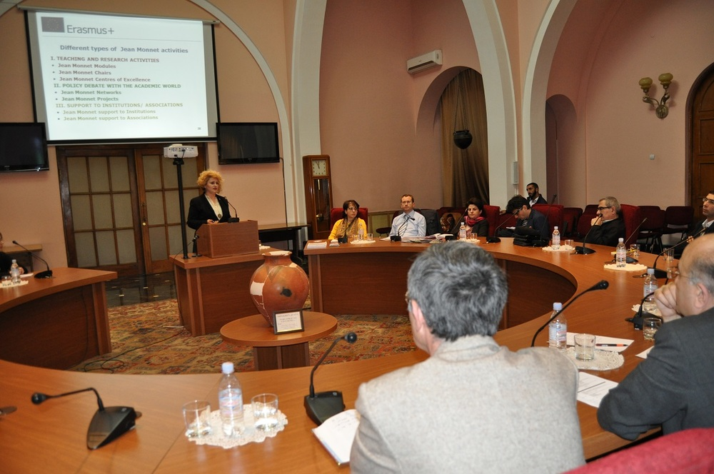 5. Edith Soghomonyan talking about Erasmus Plus Program.JPG
