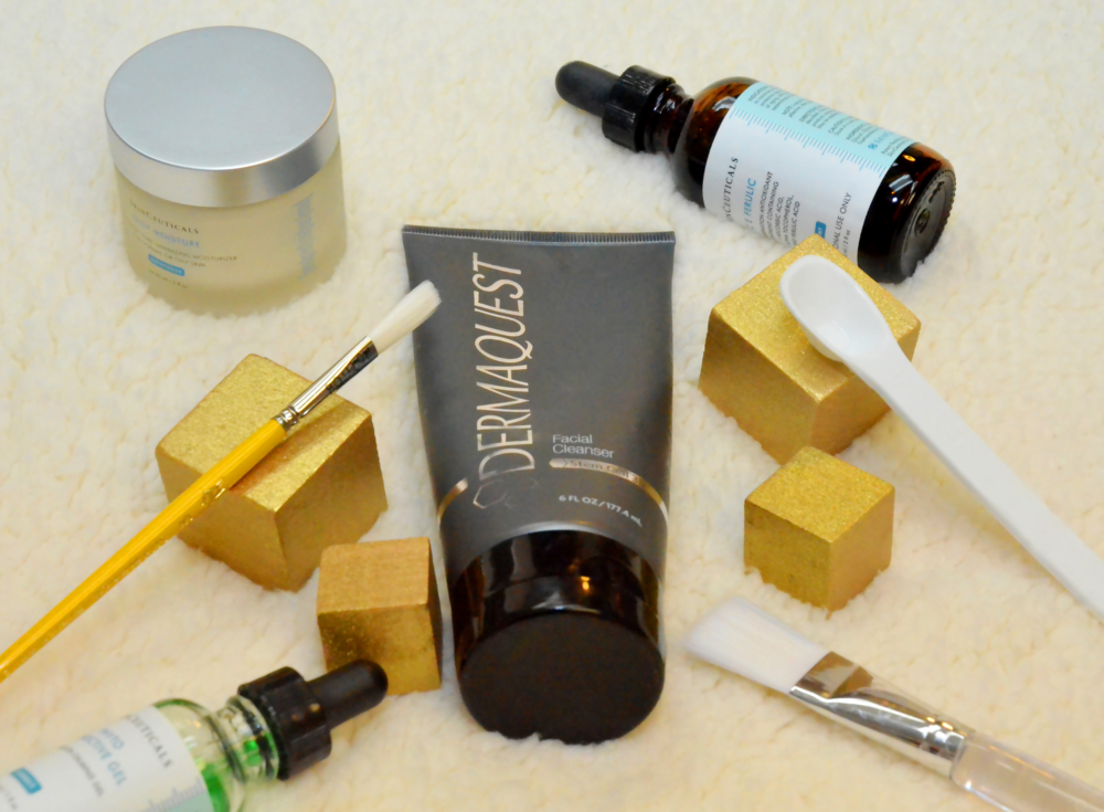 A selection of skin care products from Dermaquest and SkinCeuticals