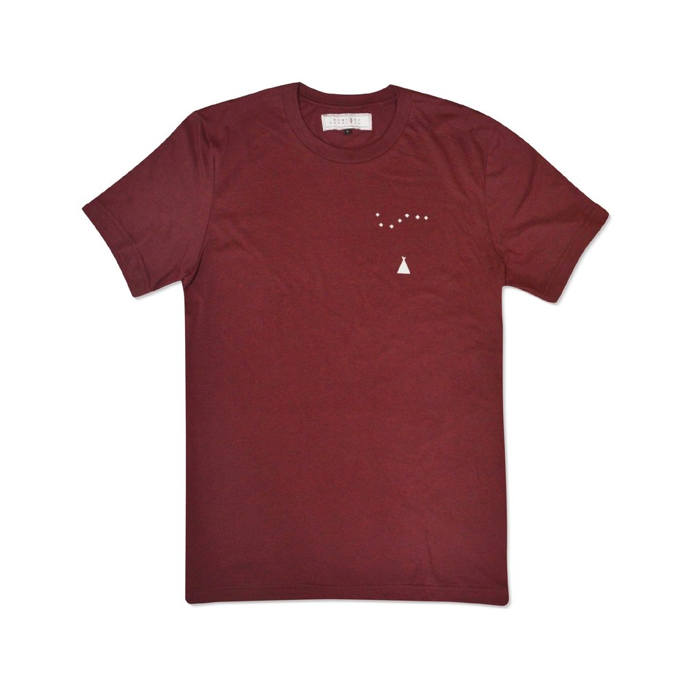 WITHERIDGE TEE IN BURGUNDY    By  Newland Supply Co.     Our Witheridge Tee features designs by Harry Fricker on the front breast & Newland detailing on the back.    SHOP NOW          £24