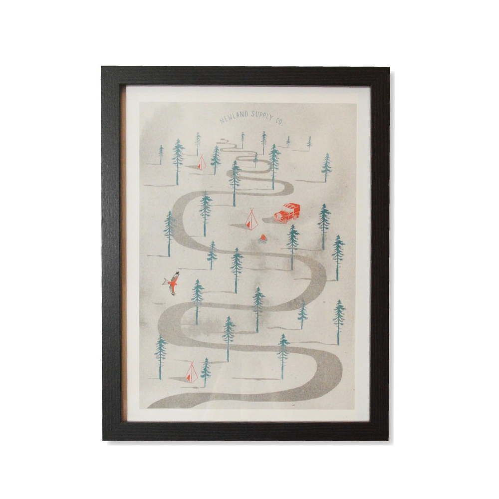 SHIRE PRINT    By  Newland Supply Co.     A Newland exclusive print by our good friend & illustrator Matt Sanders.    SHOP NOW          £10