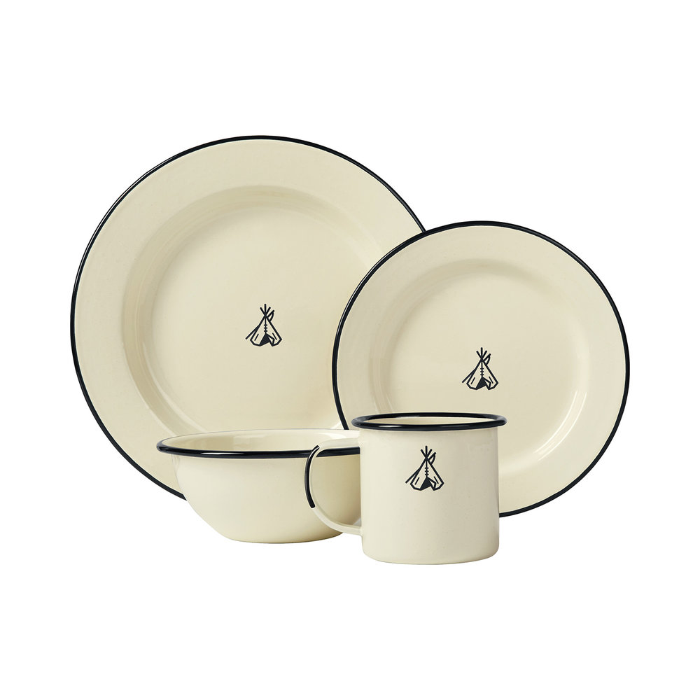 enamel dinner set by pendleton the best enamelware set for when you want to roll out