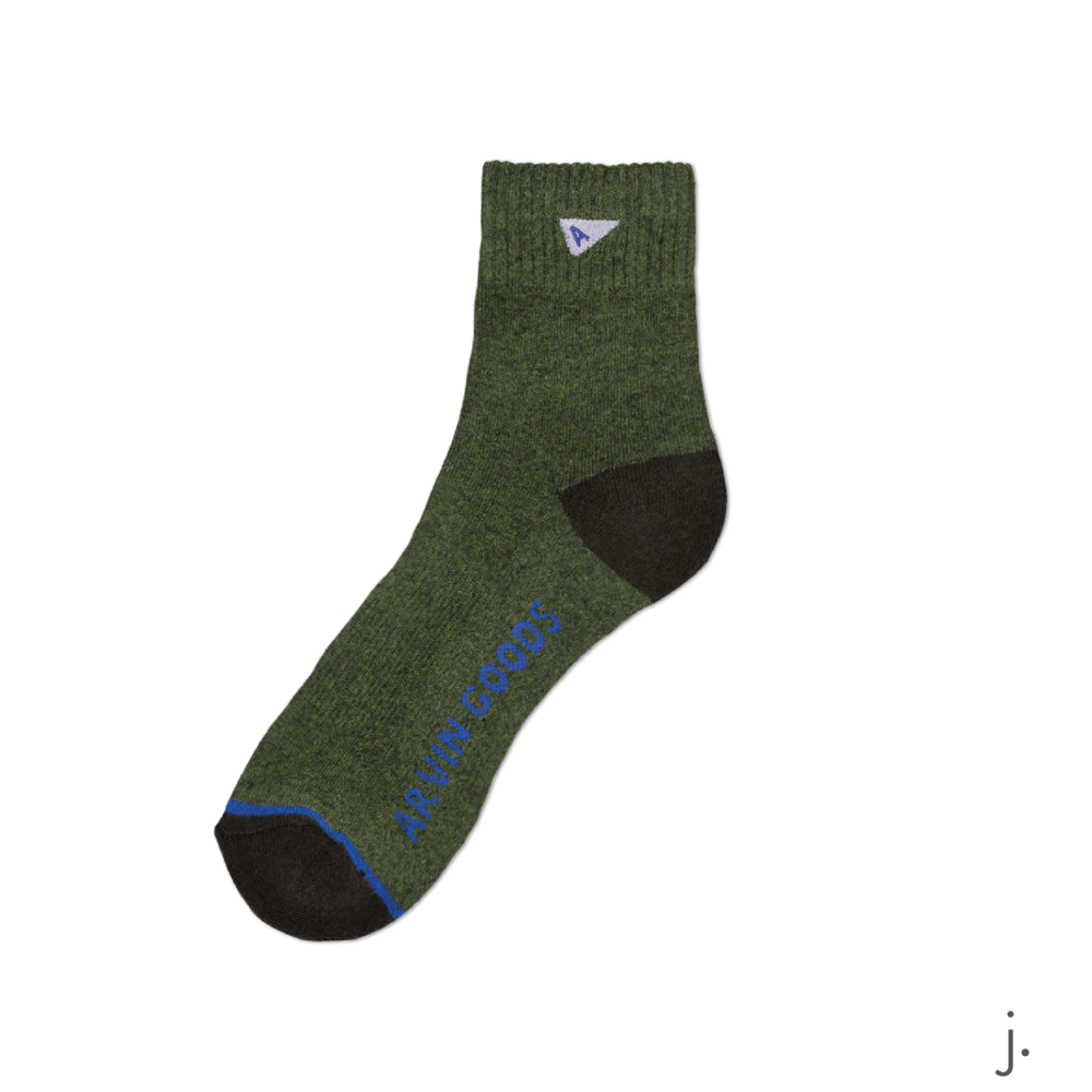 j. Dark Green & Green Crew Sock-01-01.png