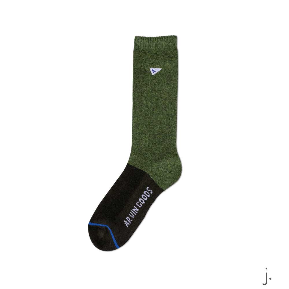j. Dark Green & Green Casual Sock-01.png