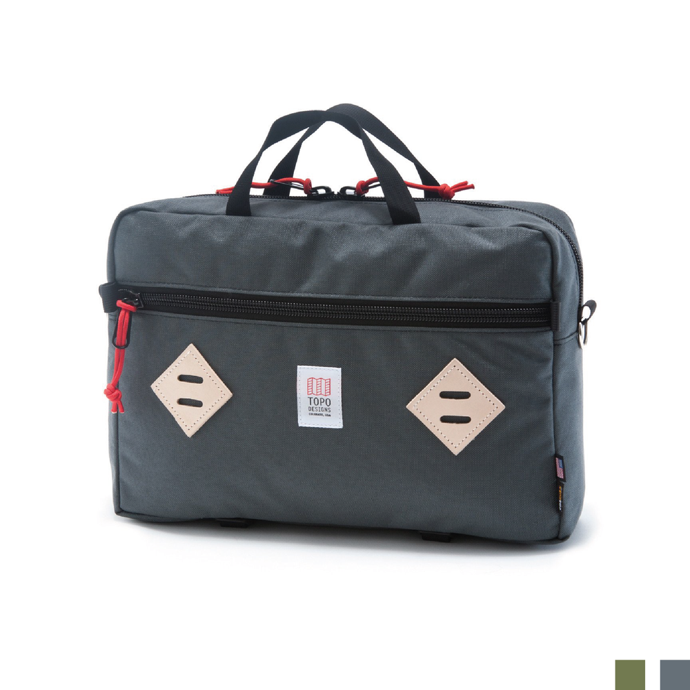 MOUNTAIN BRIEFCASE    By  Topo Designs     The ultimate shape-changing, go-to-work, bum-around-town, travel-the-world, do-it-all everyday carry.    SHOP NOW          £140
