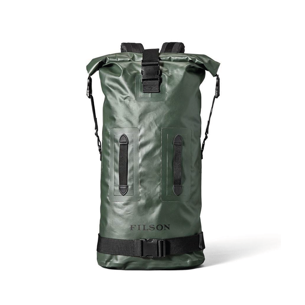 DRY DUFFEL BACKPACK    By  Filson     The toughest waterproof dry bag around. Ready for anything you can throw at it or in it, anytime, anywhere.    SHOP NOW    £115