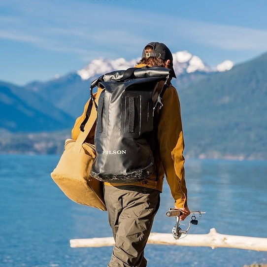 Filson-Dry-Duffle-Backpack-70159-Black-outdoor.jpg