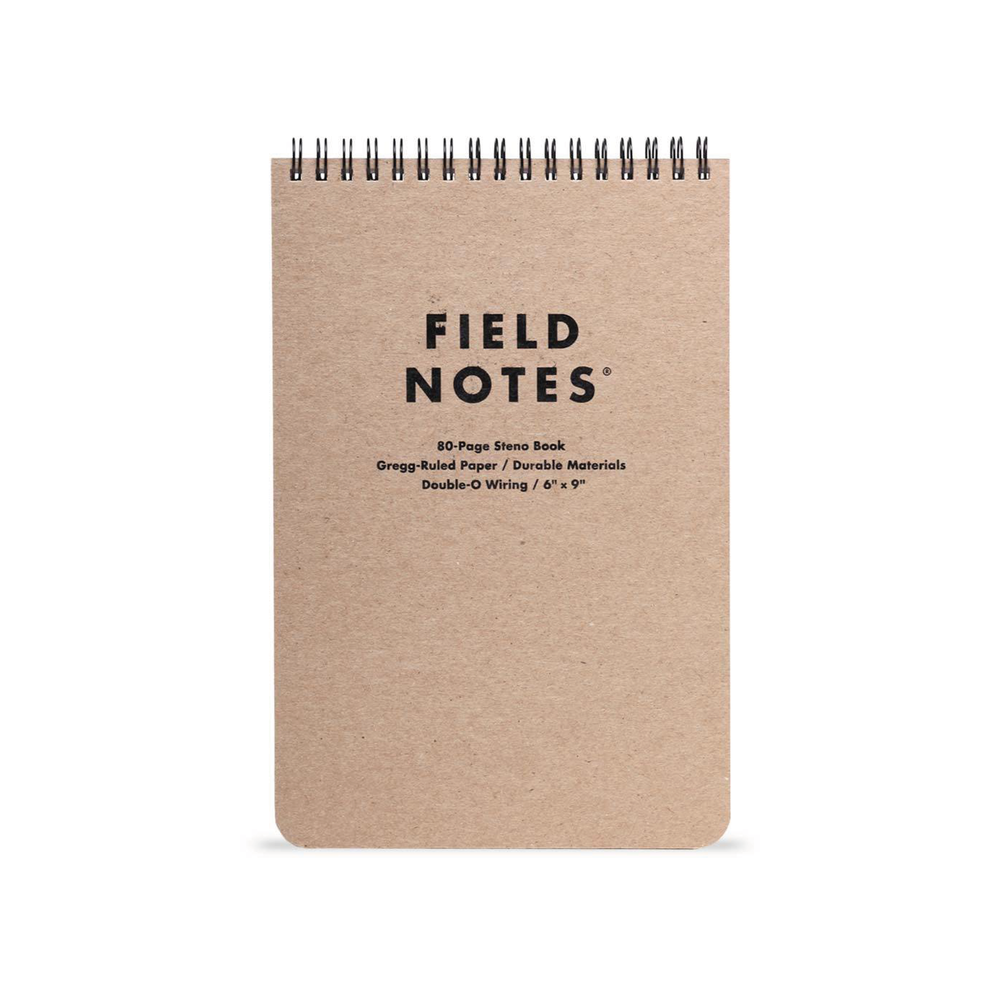 STENO PAD    By  Field Notes     The perfect lie-flat steno pad for to-do's, lists, ideas & more.    SHOP NOW          £7