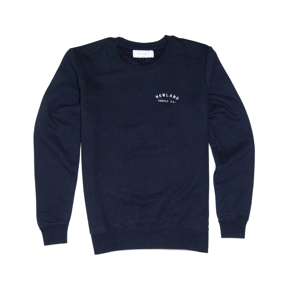 BALMORE SWEATSHIRT IN NAVY    By  Newland Supply Co.     A good old reliable sweatshirt for all aspects of your life, whether trekking the Alps,  tearing up the gym, or simply curling up on the sofa.     SHOP NOW        £45