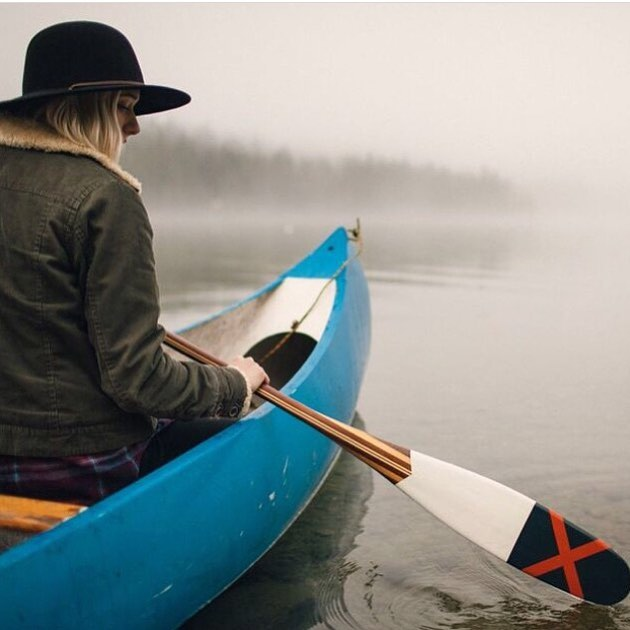 Keep calm and paddle on. Get your hands on one of these from @sanborncanoe in our store now. Photo credit: @jeffkmarsh