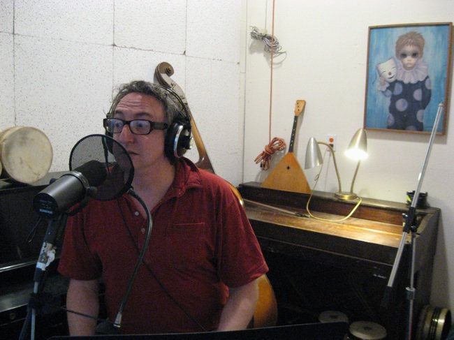 During the recording of  Appetite for Redaction  at Tim Mooney's Closer Studios in San Francisco in July 2010