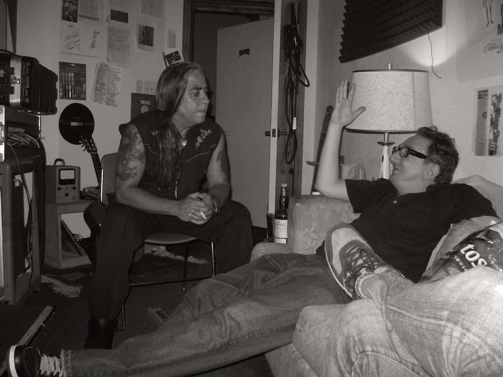 With Guillermo Gómez-Peña at Closer Studios in San Francisco in March 2010 during the recording of  The Size Queens III