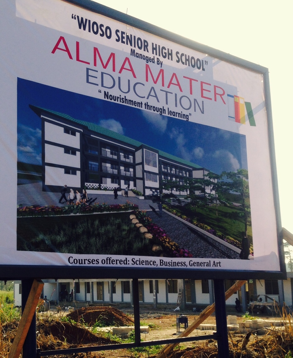 16. School sign on main road, the day of opening - Sept 2015.jpg