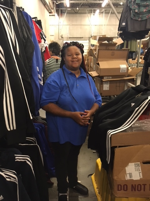 Shantel W. - Can you tell us about where you work?I work at Kohl's in Linden. I work in the stock roomWhat are your job duties?I place sensors on the clothes and I take the clothes out of boxes.How long have you worked there?I started working here at the end of June.What do you like most about working at Kohl's?The people are nice. I have fun working and doing my job.How did you start working for Kohl's?My Inroads job coach Lisa and my Mom helped me get a job here. Lisa came to the interview with me and then they told me I was hired.What do you like to do on your spare time?I like to play sports. I play basketball and soccer.