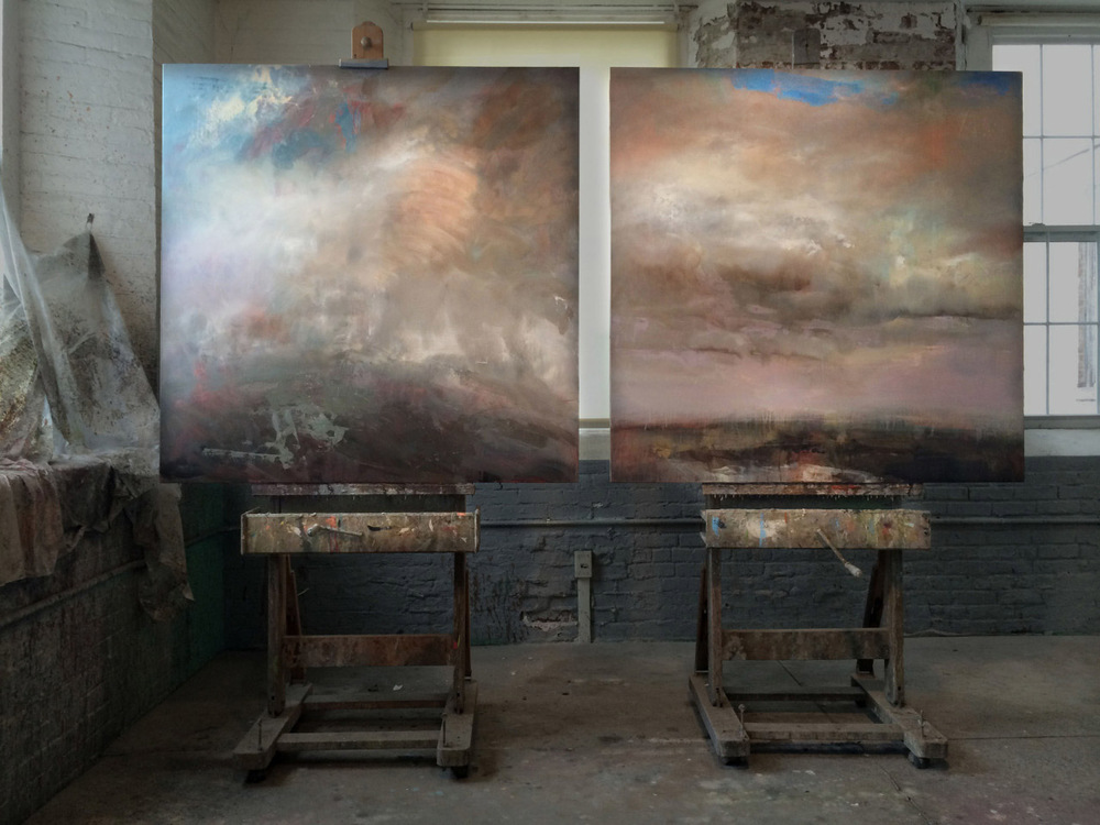 "52"" x 104"" Diptych -oil on wood panel"