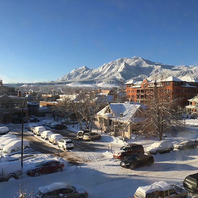 What we saw when we woke up this morning in #Boulder.