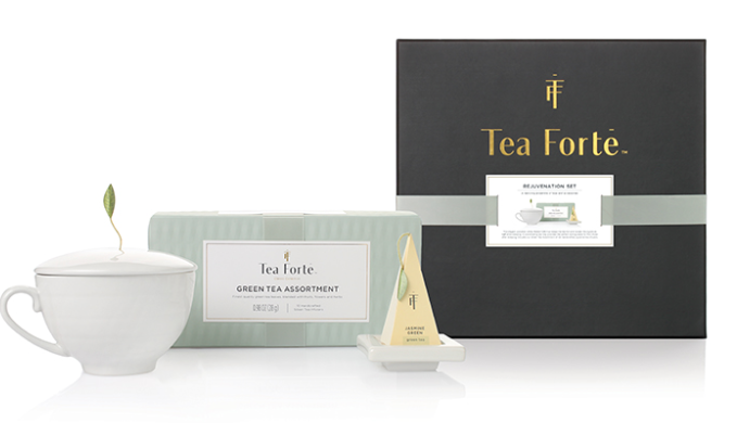 Tea Forte Green Tea Assortment Rejuvenation Gift Set